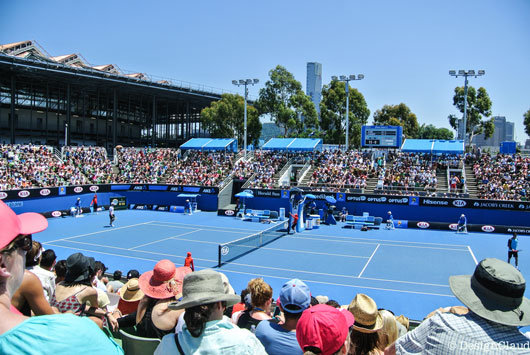 The Australian Open in Melbourne