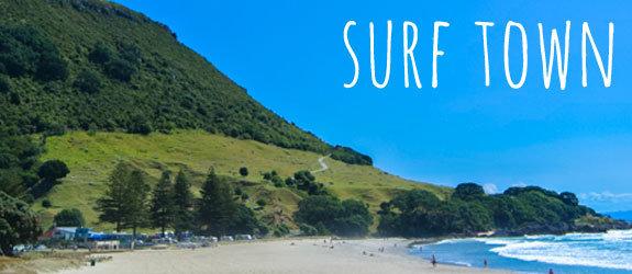 Tauranga Surf Town in New Zealand