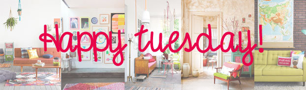 Happy Tuesday – Colorful Living Rooms