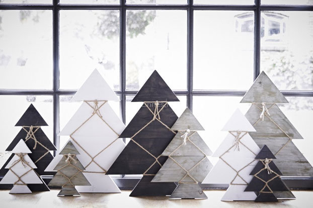 Christmas Trend: the wooden Christmas tree