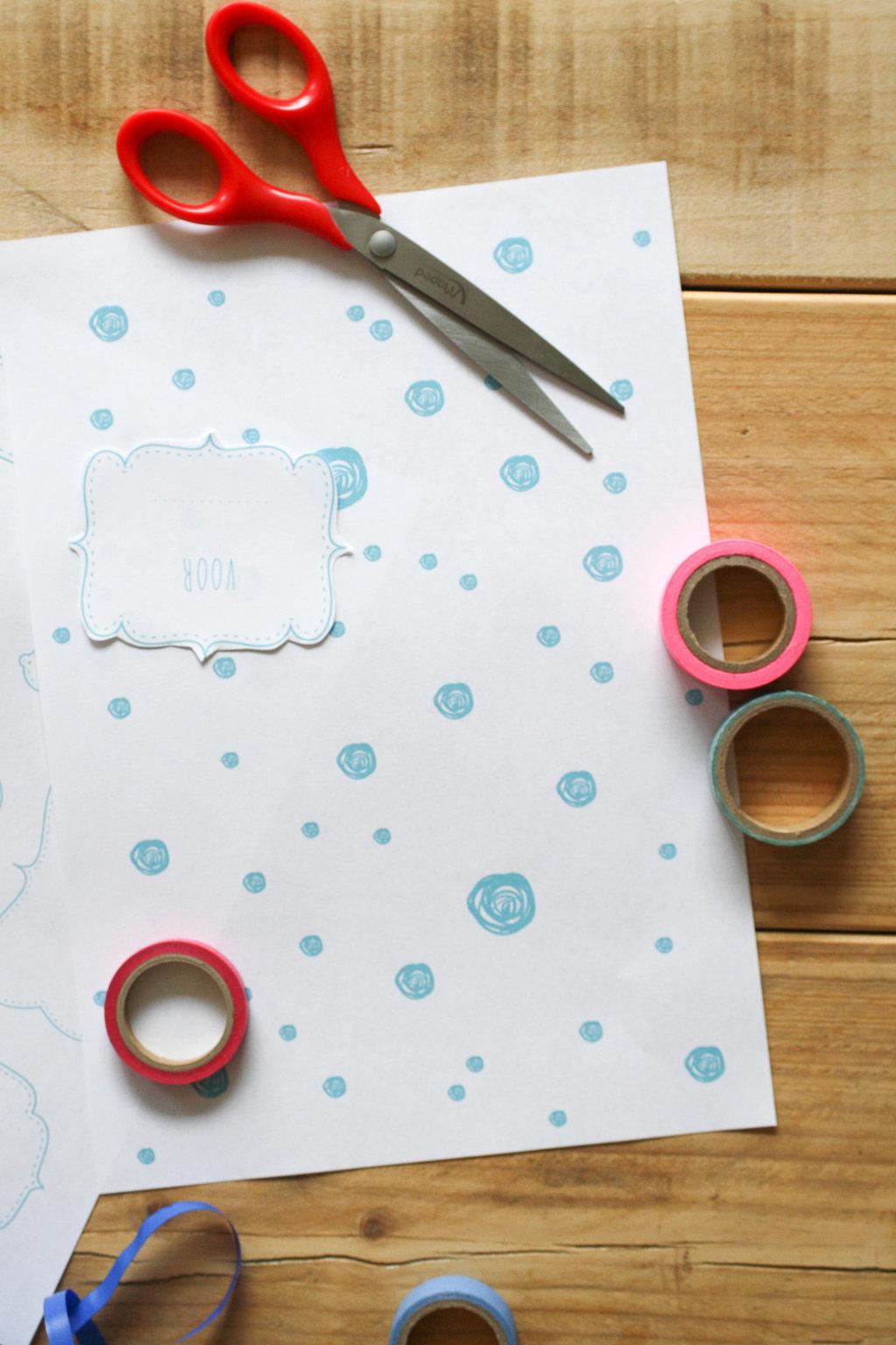 Printbaar Cadeaupapier - DesignClaud