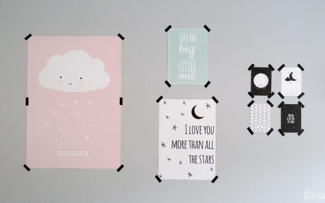 nieuwe kinderkamer inspiratie posters designclaud. Black Bedroom Furniture Sets. Home Design Ideas