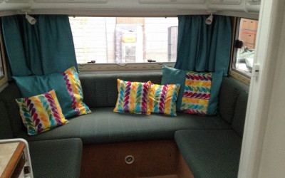 Part 4 Renovating Motorhome: Subfloor + Boiler + Decorative Pillows + Curtains