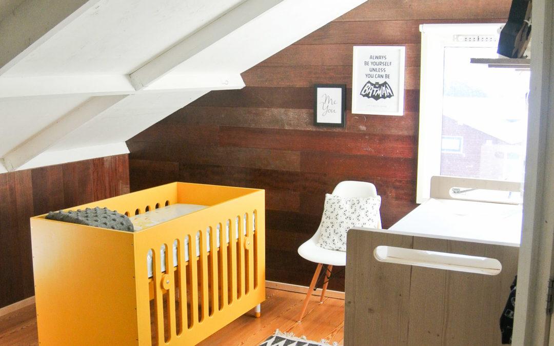 Babykamer update: zwart wit + okergeel - DesignClaud