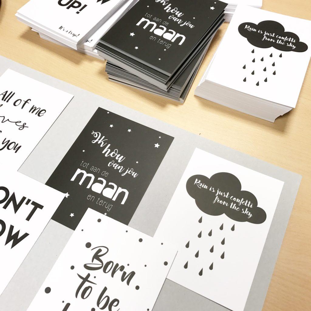 Nieuwe zwart wit kaartenset van DesignClaud - DesignClaud