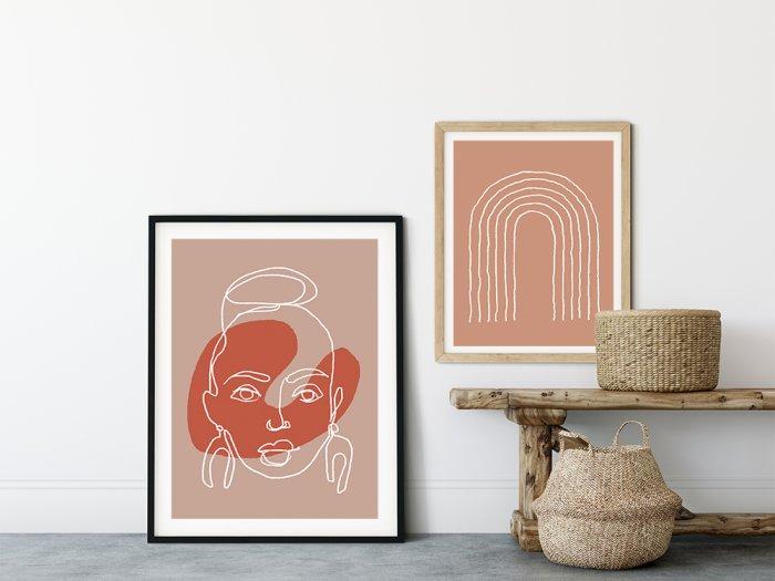 Posters In Interieur : Wit scandinavisch interieur vol met posters stripesandwalls